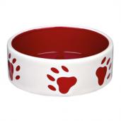 Hundefoderskål med røde poter